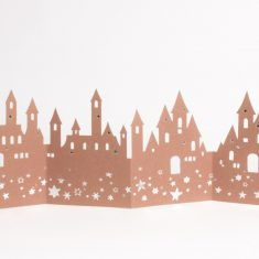 Winter Tischgirlande - Burg