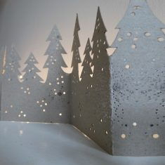 Winter Tischgirlande - Wald