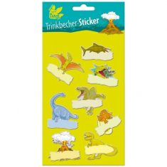 Trinkbecher-Sticker - Dinos