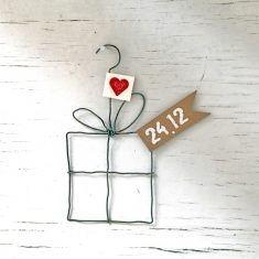 Xmas Drahtornament - Geschenk