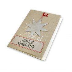 Xmas Metallkarte - Fröhliche Weihnachten