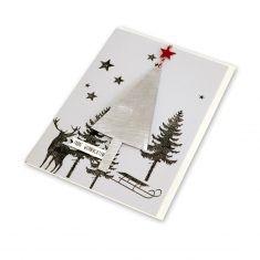 Xmas Metallkarte - Frohe Weihnachten