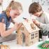 Papp-Bausatz - Lebkuchenhaus zum Ausmalen