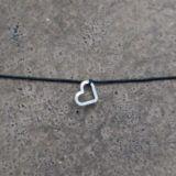 Stretcharmband - Heart silver/black, von mint.