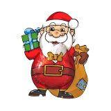 Weihnachtsmann Klausi aus Vollmilchschokolade