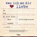 Klebezettel - Was ich an dir liebe