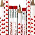 Bleistift - Herzen rot