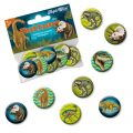 Mini-Buttons - Dinosaurier, 8er-Set