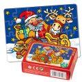 Minipuzzle mit Glitzer - Weihnachten