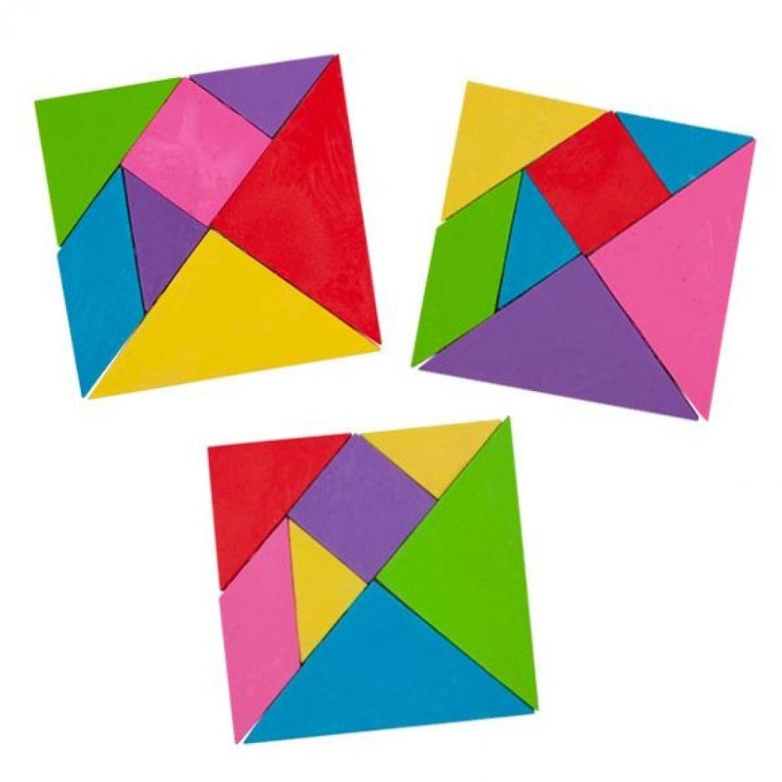 radiergummi  tangram 7teilig
